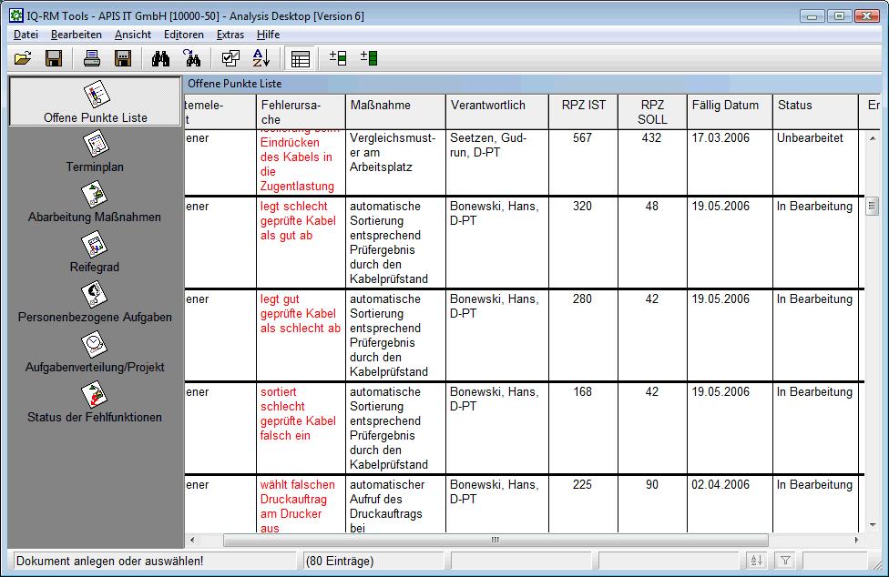 Offene Punkte Liste Excel Vorlage
