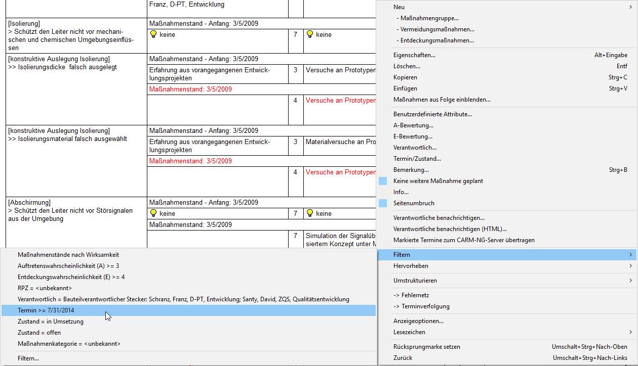 Filter: Autofilter Beispiel (Formblatt)