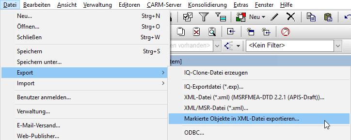 Kunde exportiert XML Datei