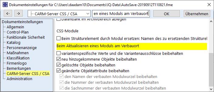 CARM-Server-updating-modules-de