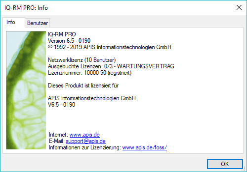 Service Pack 0190 für IQ-Software Version 6.5