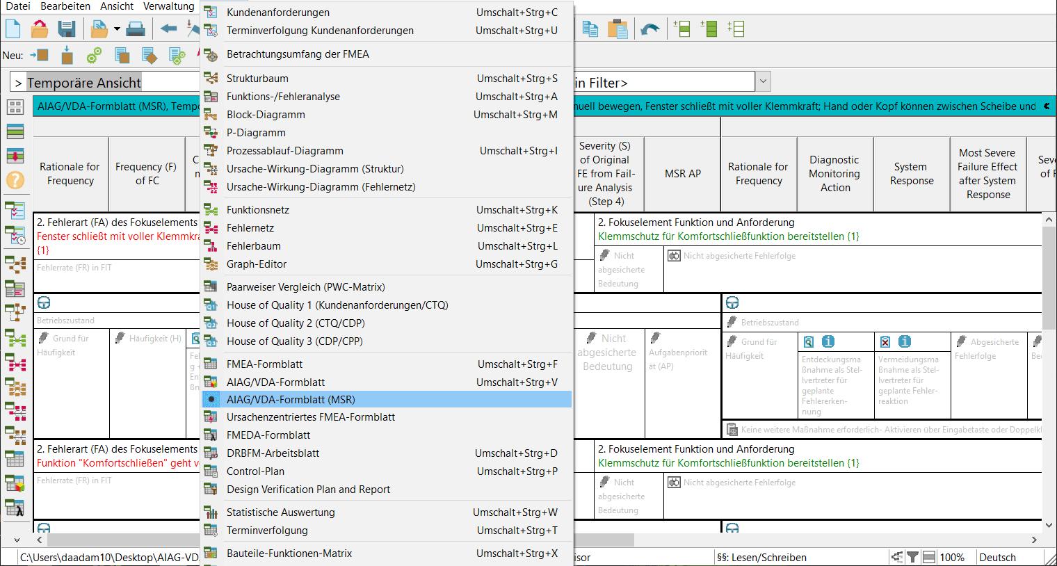 MSR-Formblatt: neuer Editor
