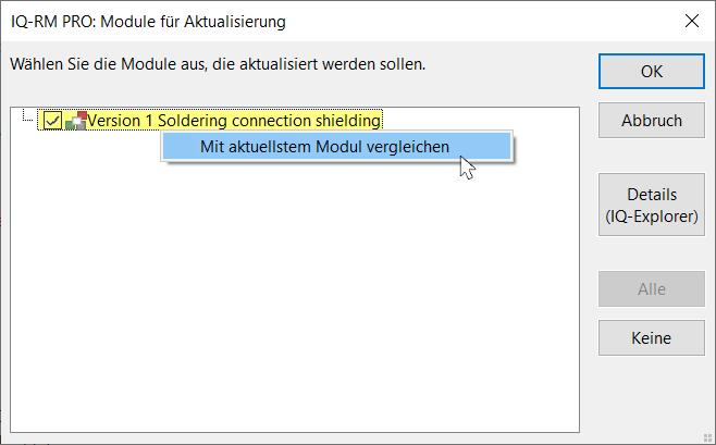 Unterschiede zwischen Module checken CARM-Server